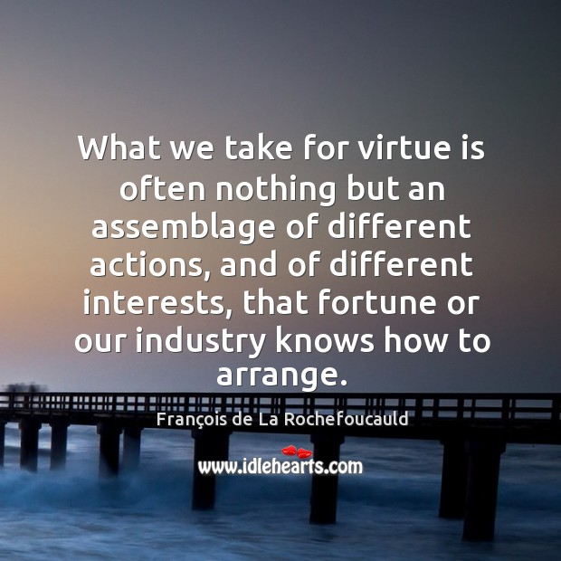 Image, What we take for virtue is often nothing but an assemblage of