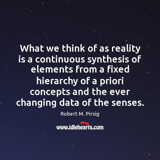 Image, What we think of as reality is a continuous synthesis of elements