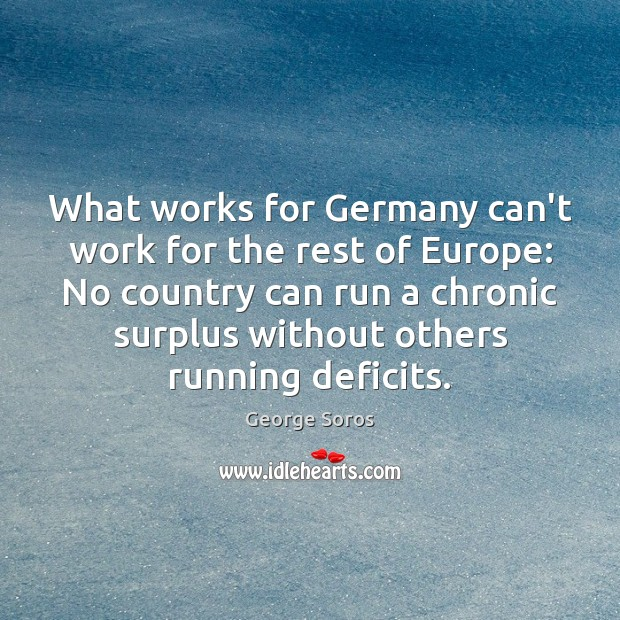 What works for Germany can't work for the rest of Europe: No Image
