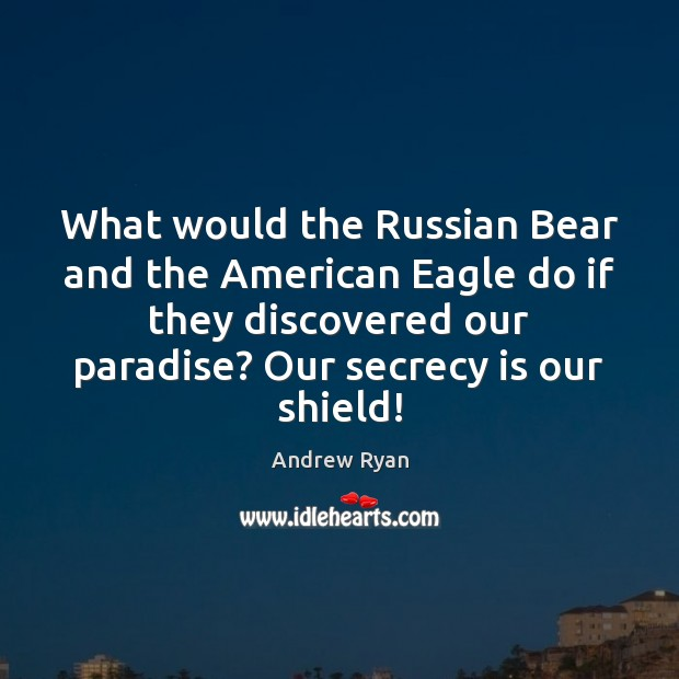 Image, What would the Russian Bear and the American Eagle do if they