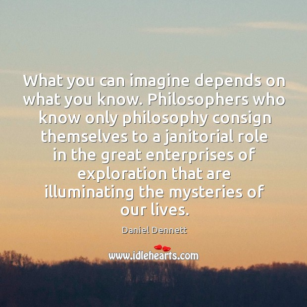 What you can imagine depends on what you know. Philosophers who know Image