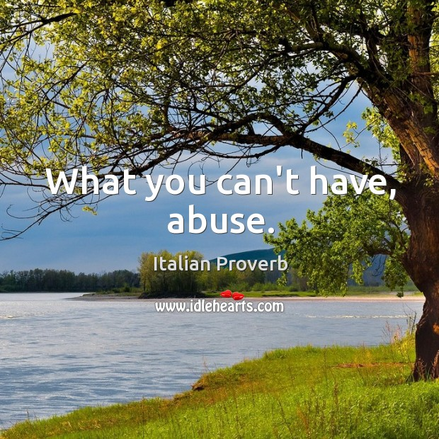 Image, What you can't have, abuse.