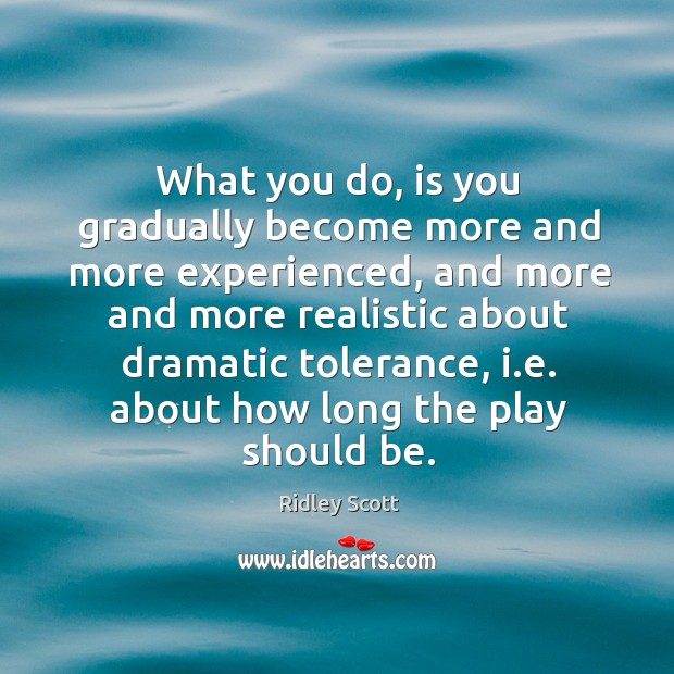 What you do, is you gradually become more and more experienced, and more and more realistic Image