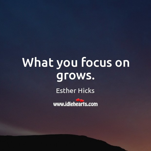 What you focus on grows. Image