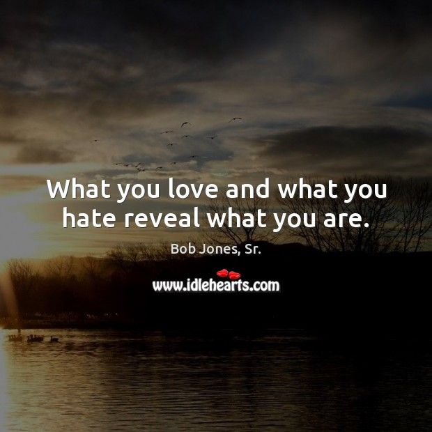 Image, What you love and what you hate reveal what you are.