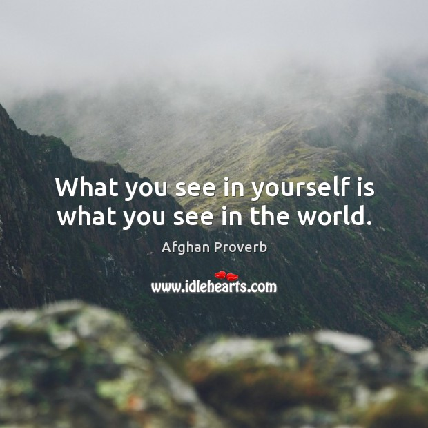 Image, What you see in yourself is what you see in the world.