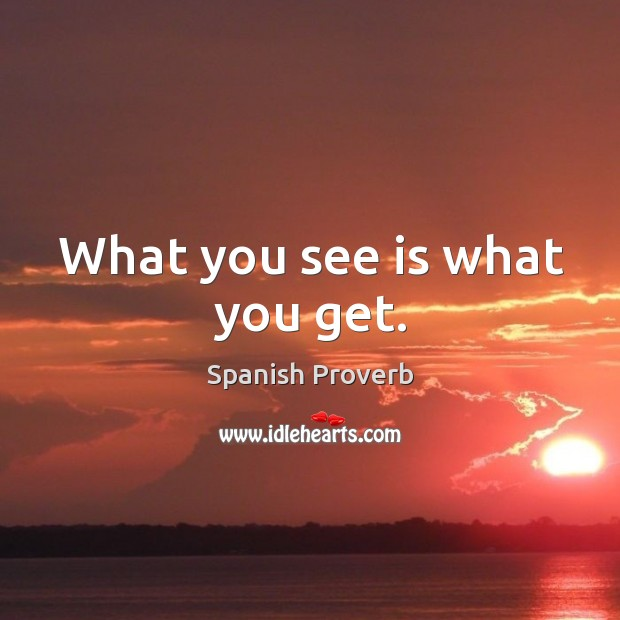 Image, What you see is what you get.