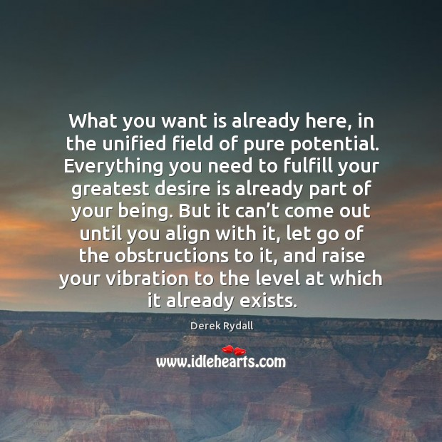 What you want is already here, in the unified field of pure Image