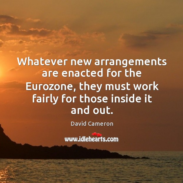 Whatever new arrangements are enacted for the Eurozone, they must work fairly Image