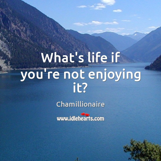 What's life if you're not enjoying it? Image
