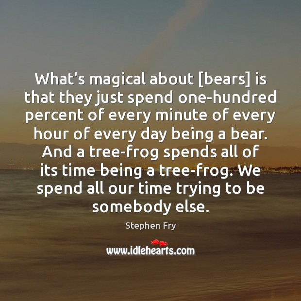 Image, What's magical about [bears] is that they just spend one-hundred percent of