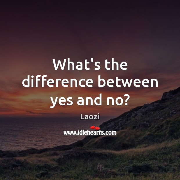 Image, What's the difference between yes and no?