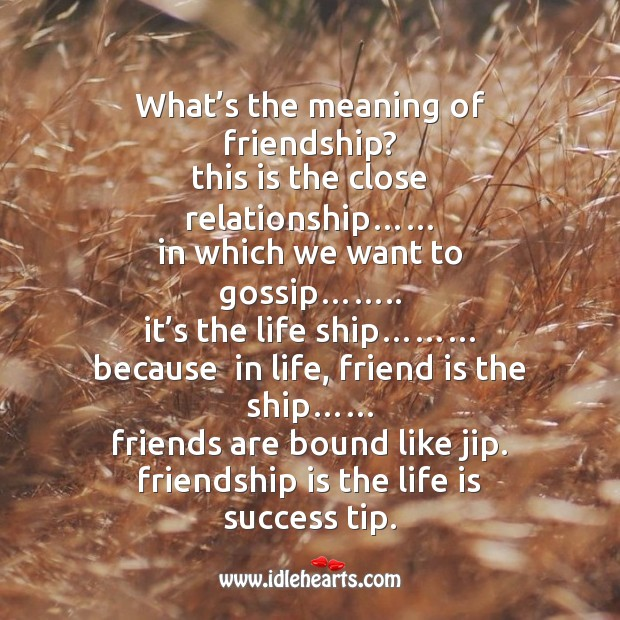 What's the meaning of friendship? Friendship Day Messages Image