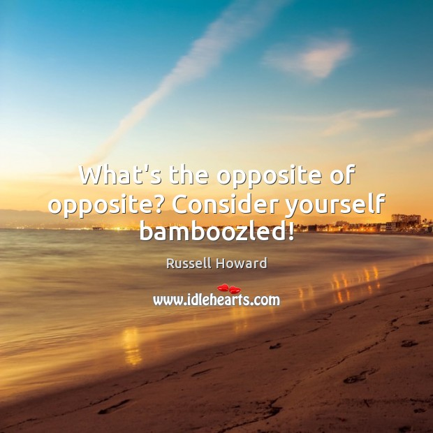 What's the opposite of opposite? Consider yourself bamboozled! Image