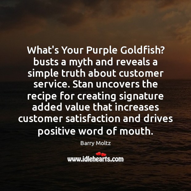 Image, What's Your Purple Goldfish? busts a myth and reveals a simple truth