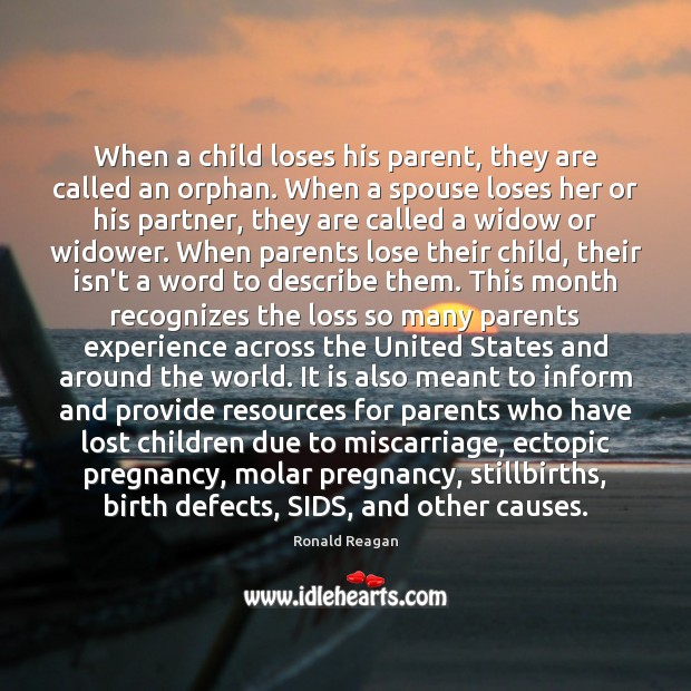 Image, When a child loses his parent, they are called an orphan. When