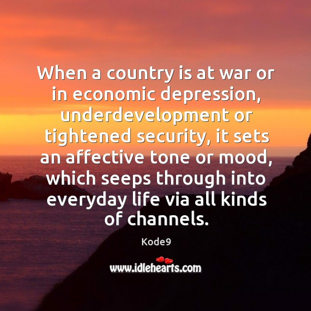 Image, When a country is at war or in economic depression, underdevelopment or