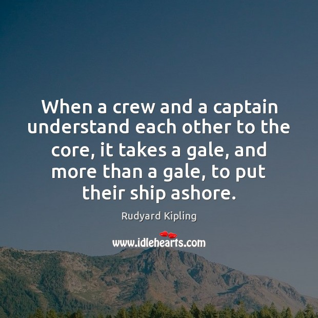 Image about When a crew and a captain understand each other to the core,
