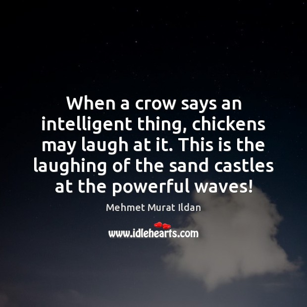 Image, When a crow says an intelligent thing, chickens may laugh at it.