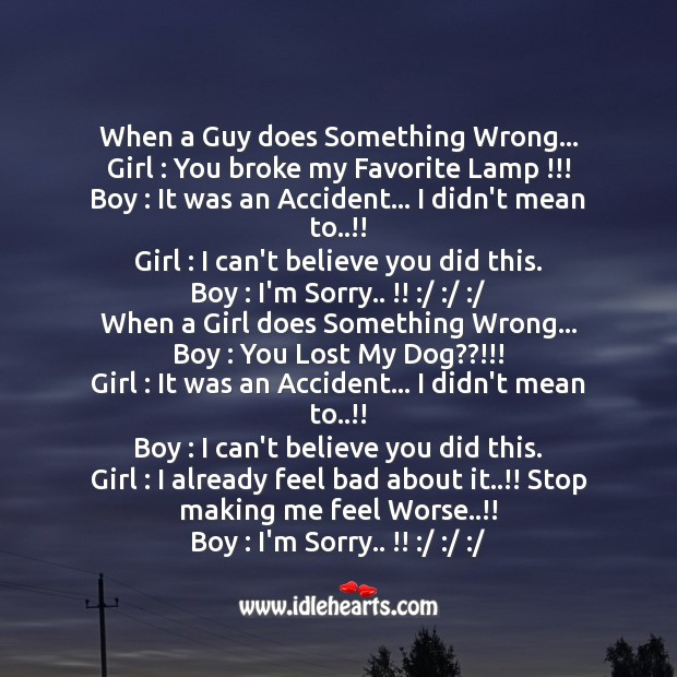 Image about When a guy does something wrong