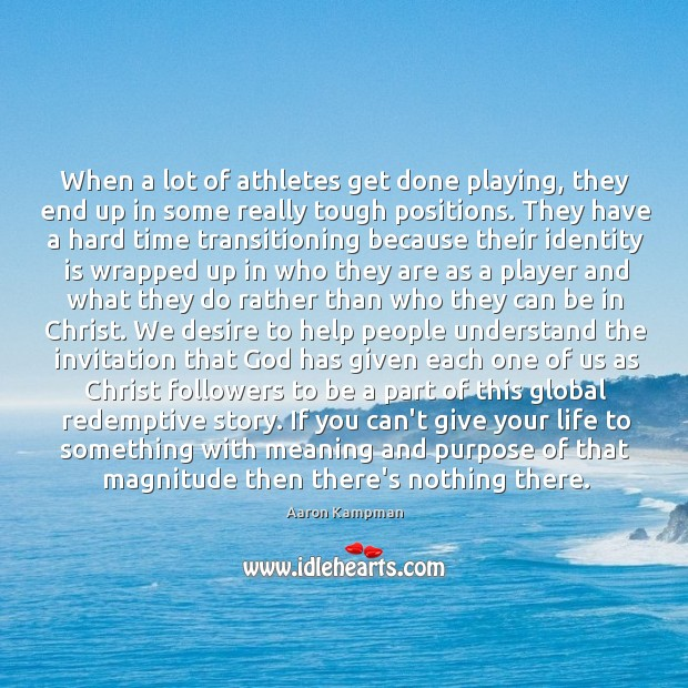 When a lot of athletes get done playing, they end up in Image