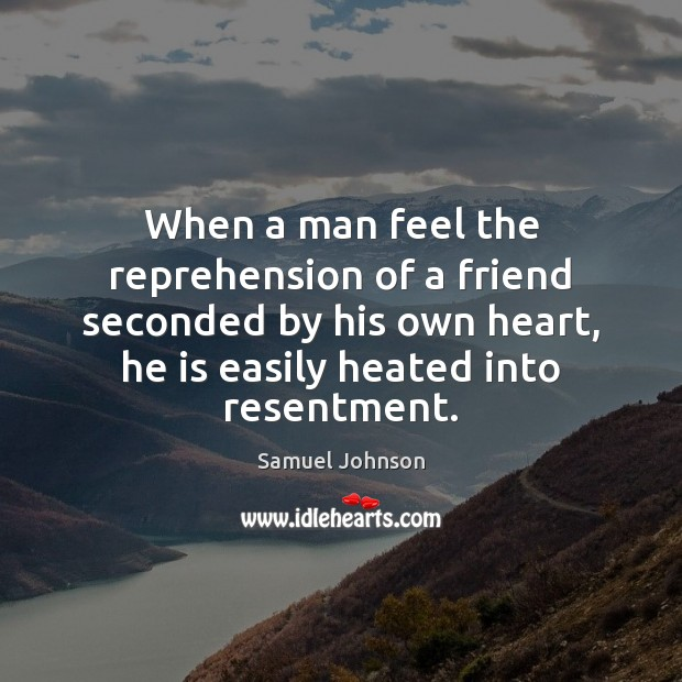 Image, When a man feel the reprehension of a friend seconded by his