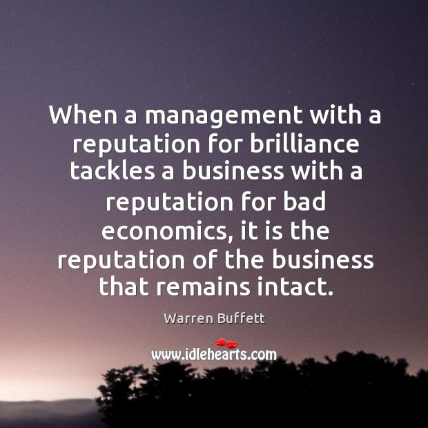 Image, When a management with a reputation for brilliance tackles a business with a reputation for bad economics