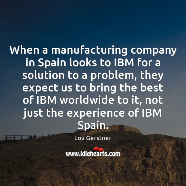 When a manufacturing company in Spain looks to IBM for a solution Image