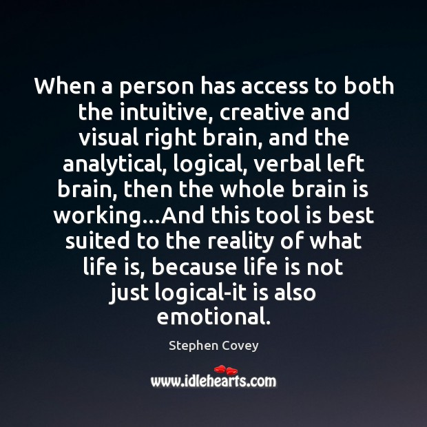 Image, When a person has access to both the intuitive, creative and visual