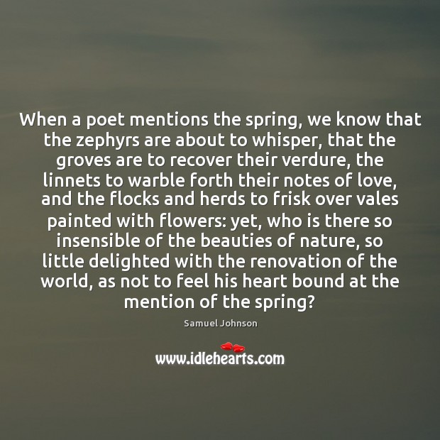 Image, When a poet mentions the spring, we know that the zephyrs are