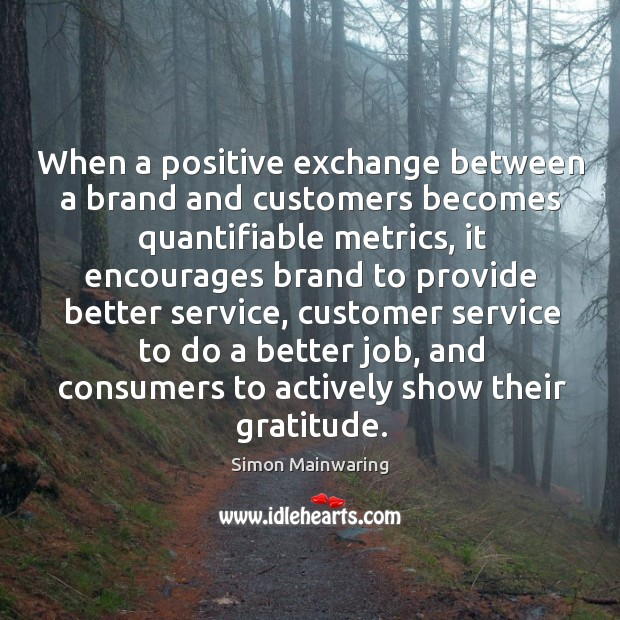 When a positive exchange between a brand and customers becomes quantifiable metrics, Image