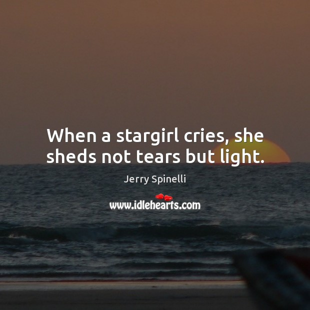 When a stargirl cries, she sheds not tears but light. Image