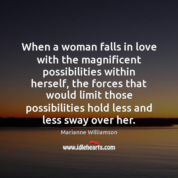 When a woman falls in love with the magnificent possibilities within herself, Image