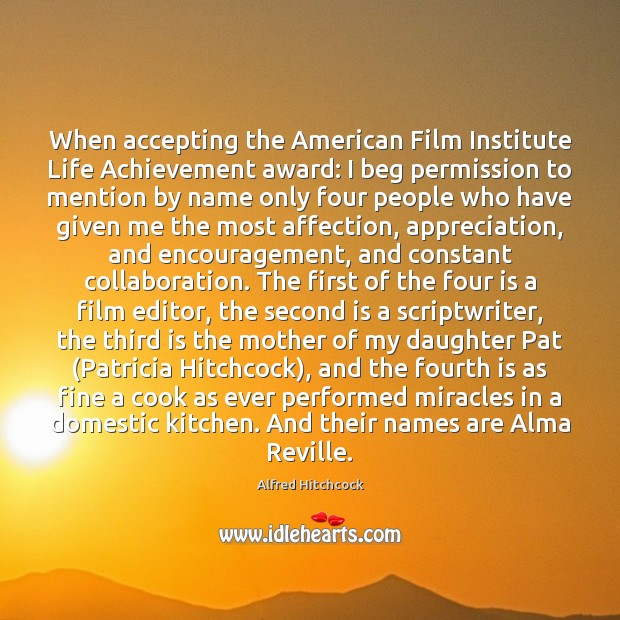 Image about When accepting the American Film Institute Life Achievement award: I beg permission