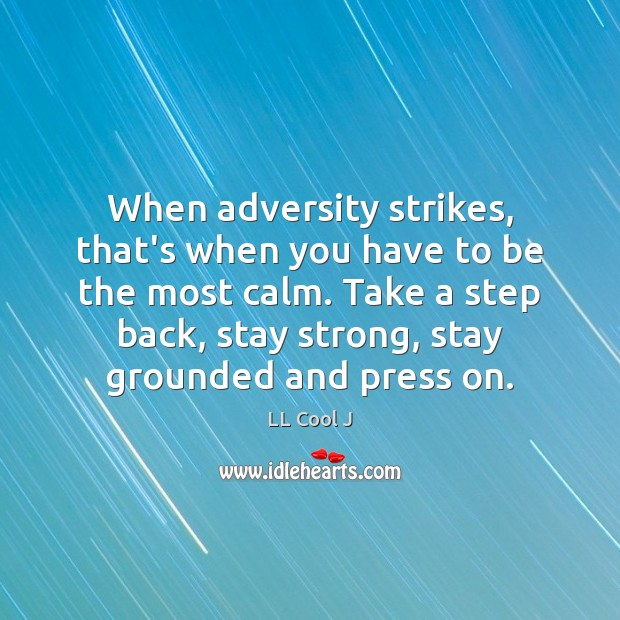 When adversity strikes, that's when you have to be the most calm. LL Cool J Picture Quote