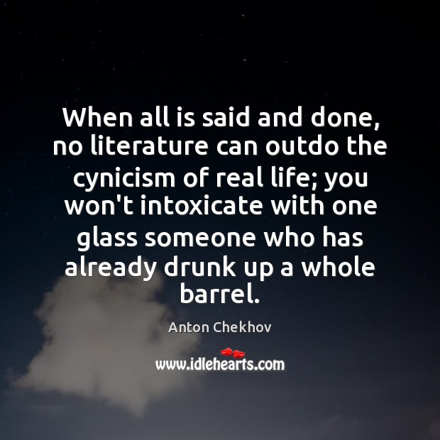 Image, When all is said and done, no literature can outdo the cynicism
