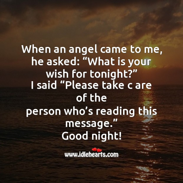 When an angel came to me Good Night Messages Image