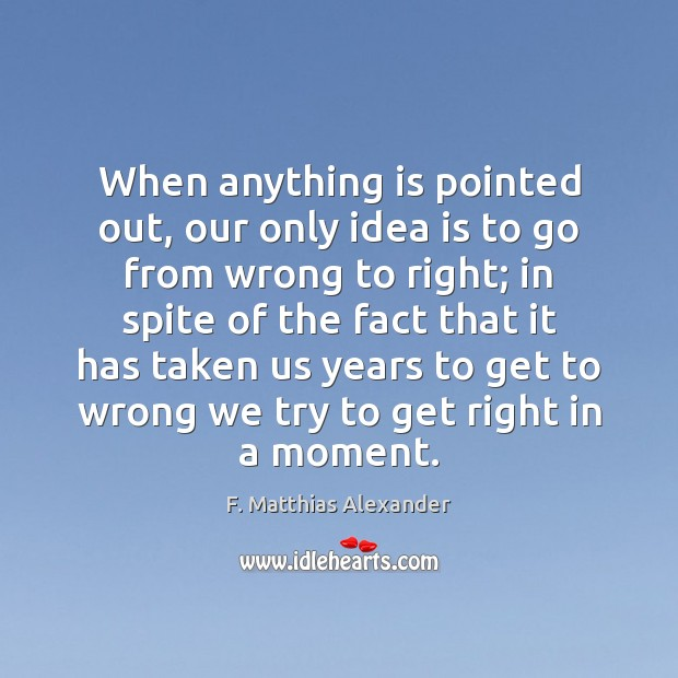 When anything is pointed out, our only idea is to go from Image