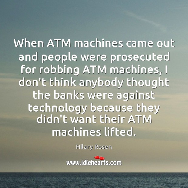 Image, When ATM machines came out and people were prosecuted for robbing ATM