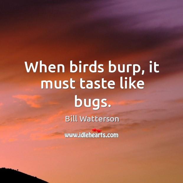 When birds burp, it must taste like bugs. Image