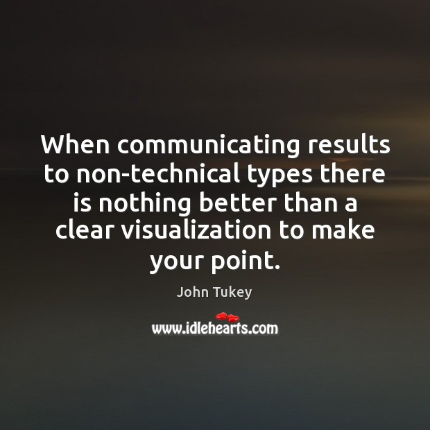 When communicating results to non-technical types there is nothing better than a John Tukey Picture Quote