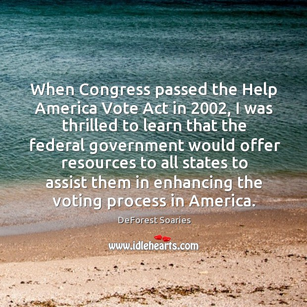 When congress passed the help america vote act in 2002 Image