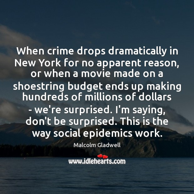 Image, When crime drops dramatically in New York for no apparent reason, or