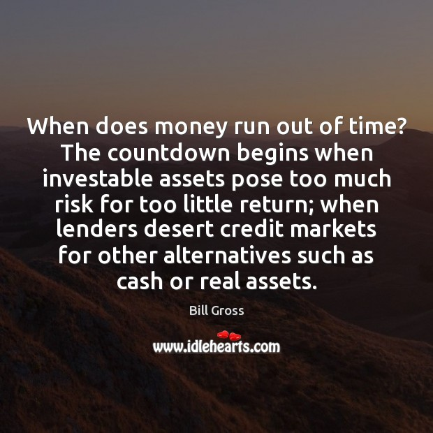 When does money run out of time? The countdown begins when investable Image