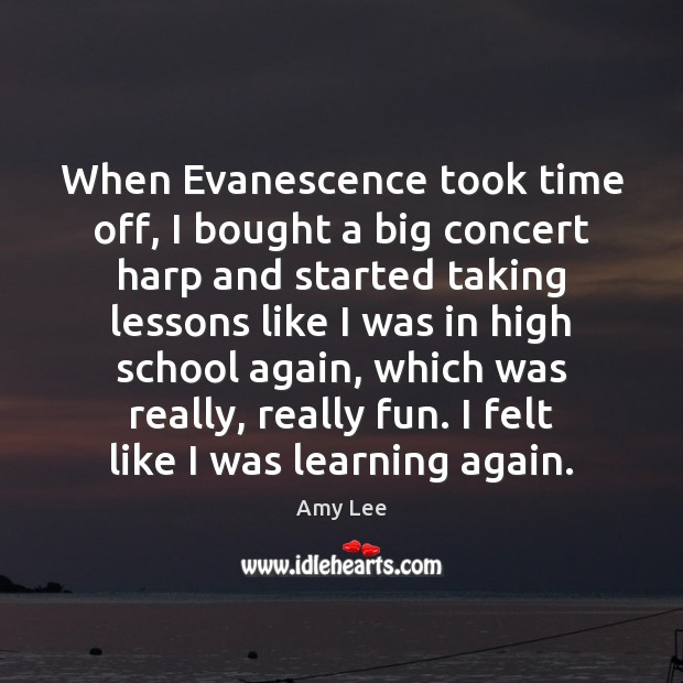 Image, When Evanescence took time off, I bought a big concert harp and
