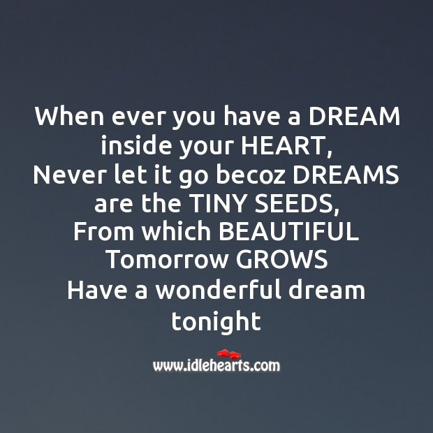 When ever you have a dream inside your heart Image