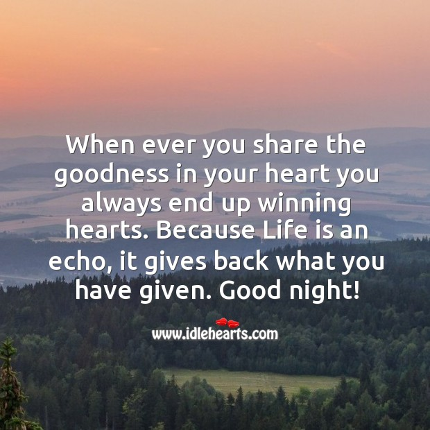 When ever you share the goodness in your heart you always end up winning hearts. Image