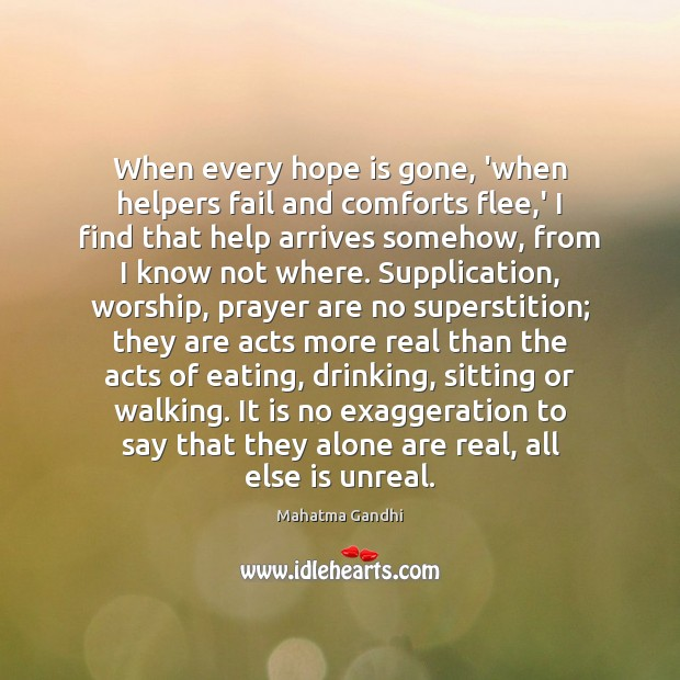 When every hope is gone, 'when helpers fail and comforts flee,' Image