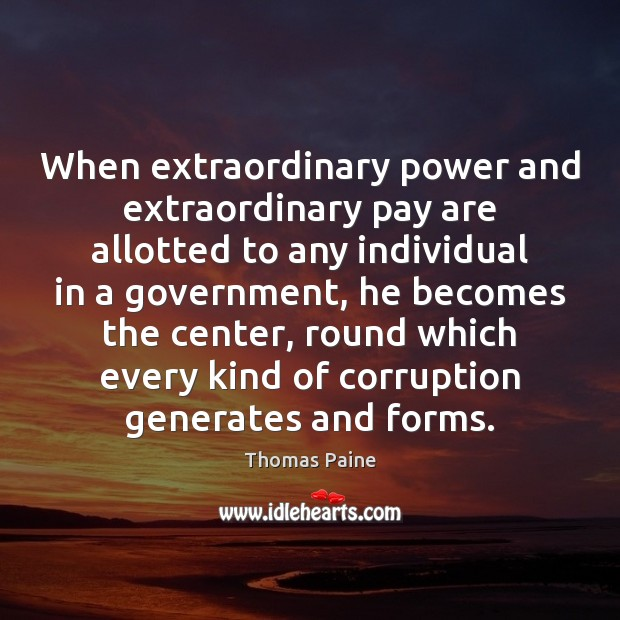 Image, When extraordinary power and extraordinary pay are allotted to any individual in
