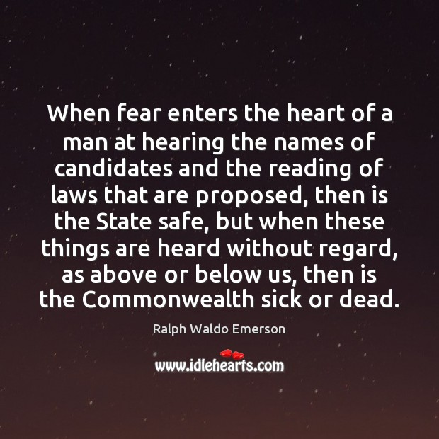 When fear enters the heart of a man at hearing the names Image